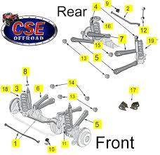 jeep jk suspension diagram by diagram replacement suspension parts jeep 1997 2006 wrangler