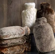 Pottery Barn Fur Blanket A Water Bottle In Fur By Design Hunting