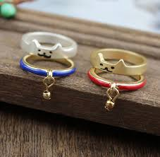 bell rings red images Cute cat shiba inu bells ring sets blue red harajuku fashion jpg
