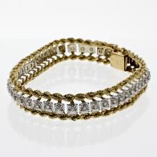 bracelet design diamond images Diamond and two tone gold bracelet design with consignment llc jpg