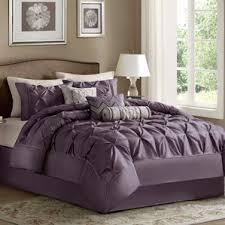 Purple Ruffle Comforter Modern Purple Bedding Sets Allmodern