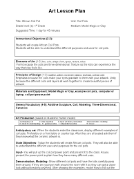 coil pot lesson plan pottery madeline hunter template pdf 15098