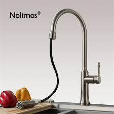 kitchen faucet stainless steel aliexpress buy kitchen faucet brass pull out faucets