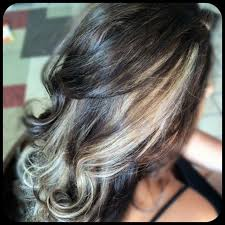 chocolate hair with platinum highlight pictures 501 best chunky streaks lowlights 2 images on pinterest hair