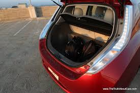 nissan note interior trunk review a week in a 2012 nissan leaf the truth about cars