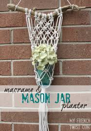 Mason Jar Wall Planter by Macrame And Mason Jar Planter My French Twist