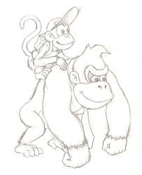 kong country returns coloring pages