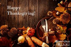 wishing you and your family a happy thanksgiving miami