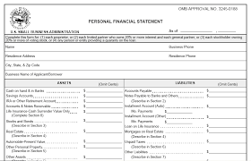 Personal Income Statement Template Excel Financial Statement Form Commercial Loan Personal Financial