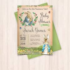 rabbit baby shower printable rabbit baby baby shower invitation free thank you card