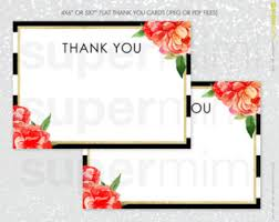 5x7 thank you cards etsy