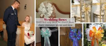 pew decorations for weddings wedding bows and church pew decorations package bows