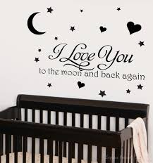 love you moon and back wall decal home design ideas