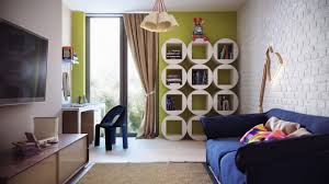 circle white shape bookshelf match with any color wall painting