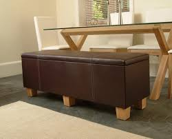 leather storage bench with modern living room modern and
