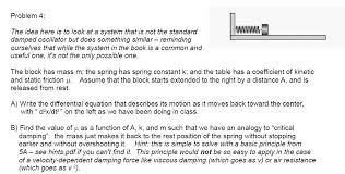The Book Is On The Table Spring Constant K And The Table Has A Coefficient Chegg Com
