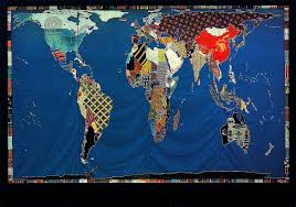 Map Of Philadelphia Pennsylvania by Textile Mosaic World Map