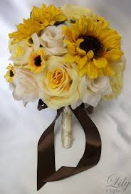 Sunflower Wedding Bouquet Silk Sunflower Wedding Bouquets Wedding Corners
