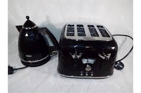 Delonghi Four Slice Toaster Ex Display A Delonghi Four Slice Toaster With Matching Kettle In