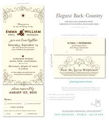 plantable wedding invitations 49 best unique country wedding invitations images on