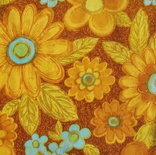 Sunflower Yellow Curtains by Sheridan Retro Vintage Cotton Curtain Floral Fabric Material