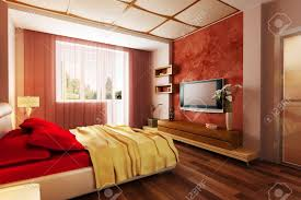 Modern Style Bed Modern Style Bedroom Interior 3d Rendering Stock Photo Picture