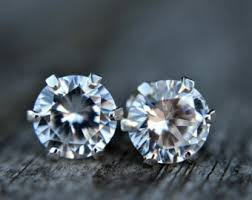 diamond stud earrings sale diamond studs etsy