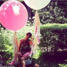 large birthday balloons big tassle balloons fêtes baby west