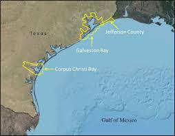 Galveston Island Map Texas Sea Level Rise