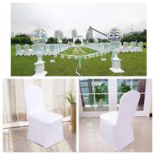 White Chair Covers For Sale 1 100 White Chair Covers Spandex Lycra Wedding Anniversary Party