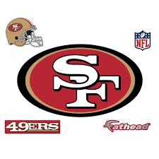 fathead 28 in h x 48 in w san francisco 49ers logo wall mural 14 w san francisco 49ers logo wall mural