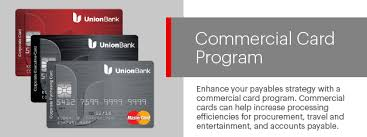 corporate credit cards union bank commercial credit card programs