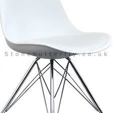 ray eames inspired i dsr side chair black metal legs white