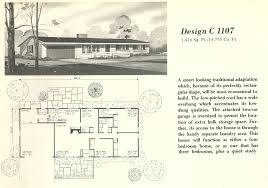 mid century modern house plans small homes vintage plan 50s houses