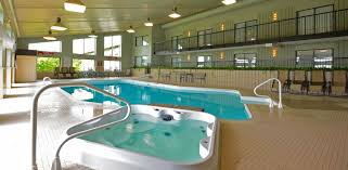 a soothing salt water indoor swimming pool