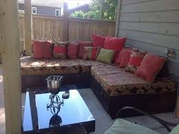 diy reclaimed pallet outdoor sectional sofa