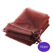 organza bags bulk organza bags drawstrings 3 x 4 inches brown bulk 12 pcs yazycraft