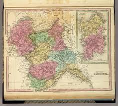 Sardinia Map Kingdom Of Sardinia David Rumsey Historical Map Collection