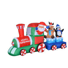 christmas inflatable train perfect for your christmas outdoor yard