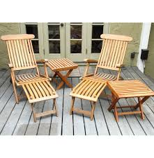 Teak Patio Furniture Set - royal teak patio lounge chair set ebth