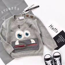 2017 new design fashion sweater boy gray color