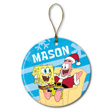 decorate the tree with a special personalized spongebob squarepants