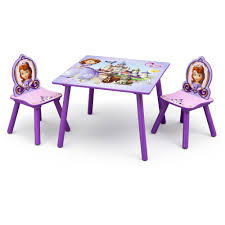 Disney Jr Sofia The First Table And Chairs Set Lavender Walmart Com