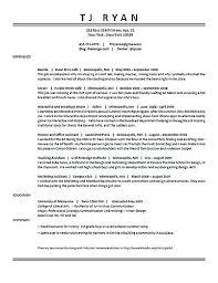 waiter sample resume skills cover letter scientific journal