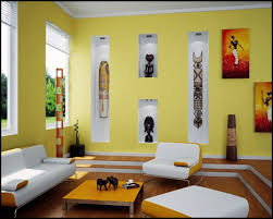 living room design with african art wallpaper designs for living
