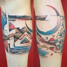 shin tatoos style tattoo on calf shin
