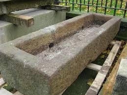 water trough planter antique large stone garden trough planter past time collectables