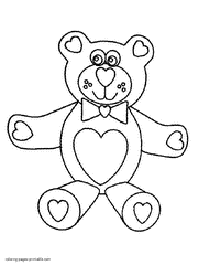 valentine u0027s cards coloring pages