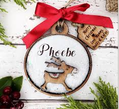 Cheap Personalised Christmas Decorations Personalised Christmas Decoration Wooden Reindeer Christmas Bauble