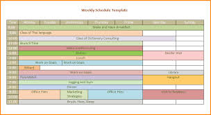 weekly workout schedule template weekly schedule template png